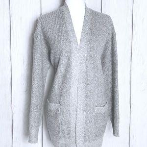 Calvin Klein Chunky Gray Wool Cardigan Sweater